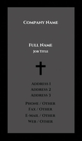 Black and Grey Religious Business Card Template